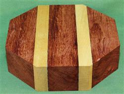 "Bowl #397 - Bubinga & Yellowheart Striped Bowl Blank ~ 7 1/2"" x 2"" ~ $21.99"