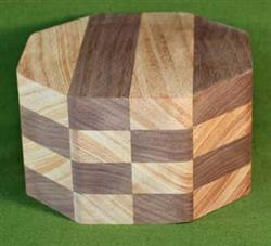 "Bowl #416 - Mahogany & Walnut Checkerboard Segmented Bowl Blank ~ 6"" x 3 1/2"" ~ $39.99"