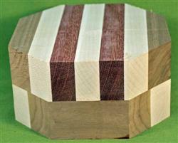 "Bowl #418 - Striped Segmented Bowl Blank ~ 6"" x 3+"" High ~ $27.99"