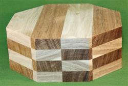 "Bowl #422 - Hickory & Jatoba Checkerboard Segmented Bowl Blank ~ 8"" x 3 1/2"" ~ $45.99"