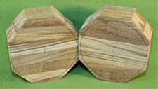 "Bowl #436 - Teak two piece Segmented Bowl Blank set ~ 4 3/4"" x 2"" ~ $29.99"