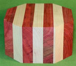 "Bowl #463 - Bloodwood & Cherry Striped Segmented Bowl Blank ~ 6 1/8"" x 3 3/8"" ~ $34.99"