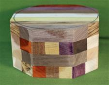 "Bowl #473 - Crazy Eclectic Segmented Bowl Blank ~ 6"" x 3 3/8"" ~ $37.99, Two only $32.99 Each"