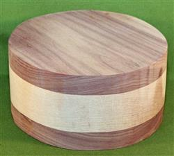 "Bowl #485 - Black Walnut & Maple Layered Bowl Blank ~ 6 3/4"" x 3 1/2"" ~ $32.99"