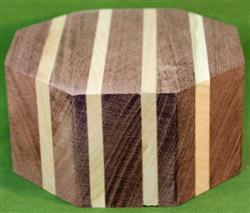 "Bowl #611 - Black Walnut & Cherry Segmented Bowl Blank ~ 5 3/4"" x 3"" ~ $24.99"