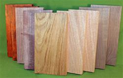 "Exotic Wood Craft Pack - 9 Boards 5"" x 10"" x 7/8"" #910  $69.99"