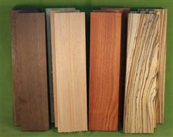 "Exotic Wood Craft Pack - 12 Boards 3"" x 12"" x 7/8""  #915  $69.99"