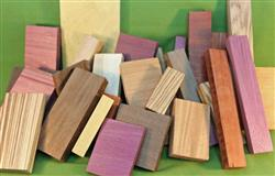 Wood Craft Pack - Exotic - Assorted Sizes & Types - A Great Value   #917  $29.99