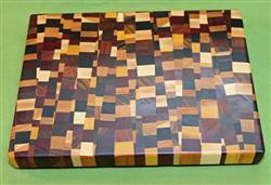 "Board #931 Chaotic / Eclectic Hardwood End Grain Cutting Board 15+"" x 12"" x 1 1/2"" - $89.99"