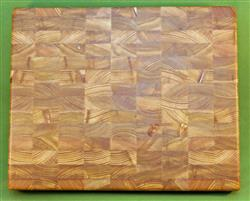 "Board #939  Larch / Tamarack End Grain Cutting Board - 14 3/4"" x 12"" x 2"" - $99.99"