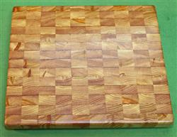 "Board #940  Larch / Tamarack End Grain Cutting Board - 14+"" x 12"" x 1 1/2"" - $79.99"