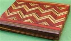 Padauk & Zebrawood Cutting Board