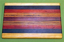 "Board #955 Exotic Hardwood Cutting Board 11 3/4"" x 8 1/2"" x 7/8"" - $21.99"