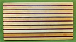 "Board #957 Exotic Hardwood Edge Grain Cutting Board 22 1/4"" x 12 1/4"" x 1 1/2"" - $84.99"