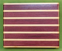 "Board #985 Sandwich / Bagel Cutting Board - Purpleheart & Maple 9"" x 7 1/4"" x 1 1/2"" - $27.99"