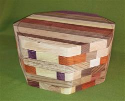 "Bowl #480 - Crazy Eclectic Crisscross Segmented Bowl Blank ~ 9 1/2"" x 4 3/4"" ~ $109.99"