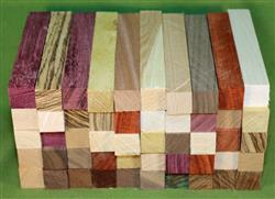 "Blank #318 - Pen Turning Blanks, Lot of 50, 11 Different Exotic Hardwoods,  Large Size, 7/8"" x 7/8"" x 6+"" ~ $44.99"