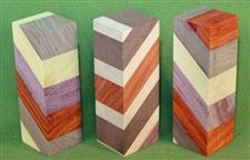 "Blank #765 - Segmented Blanks - 3 Each Assorted ~ 2 1/2"" x 2 1/2"" x 5 1/4"" ~ $24.99"