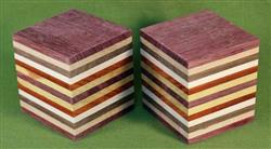 "Blank #746 - Two Striped Blanks - Set of 2 ~ 2 1/2"" x 2 1/2"" x 3"" ~ $13.99"