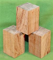 "Blank #757 - Bubinga Solid Turning Blanks ~ 3 Each ~ 2"" x 2"" x 3 1/4"" ~ $18.99"