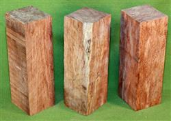 "Blank #762 - Bubinga Solid Turning Blanks ~ 3 Each ~ 2"" x 2"" x 6 1/4"" ~ $21.99"