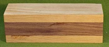 Rattle #1011 - Baby Rattle Blank - Cherry & Black Walnut  $8.49
