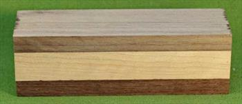 Rattle #1013 - Baby Rattle Blank - Black Walnut & Cherry  $8.49