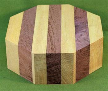 "Bowl #400 - Purpleheart & Yellowheart Striped Segmented Bowl Blank ~ 6"" x 2"" ~ $21.99"