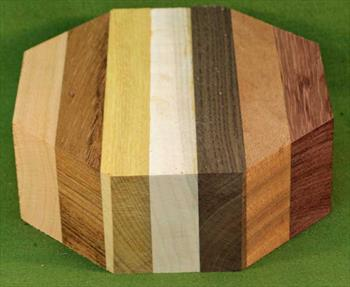 "Bowl #408 - Assorted Exotic Hardwood Striped Segmented Bowl Blank ~ 6"" x 2"" ~ $21.99"