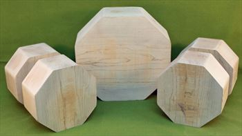 Bowl #808 - Maple FIVE Piece Bowl Turning Blank Set ~ $84.99
