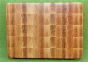 "Board #951 Yellow Birch End Grain Premium Cutting Board - 8 3/4"" x 12"" x 1 1/2"" - $27.99"