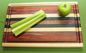 "Board #965 Exotic Hardwood Cutting Board 18 1/4"" x 11 1/2"" x 1 1/8"" - $59.99"