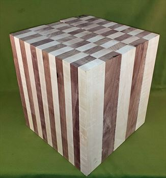 "Blank #805 - Extreme Black Walnut & Maple Turning Blank ~ 10 3/4"" x 10 3/4"" x 12"" ~ $199.99"