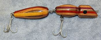 "Fishing Lure - 7 1/4""  - Striped Hardwoods - Two Section - Only $20.99 - Lure #20"