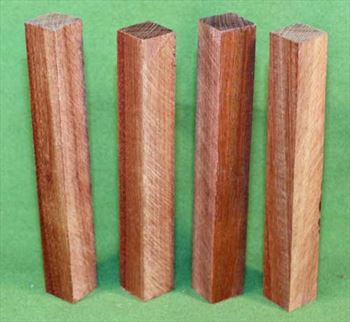 "Blank #330 - Bloodwood Solid Pen Turning Blanks, Set of 4 ~ 3/4"" x 3/4"" x 6 1/2"" ~ $14.99"