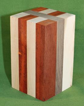 "Blank #727 - Segmented Turning Blank ~ 3 1/2"" x 3 1/2"" x 6"" ~ $19.99"