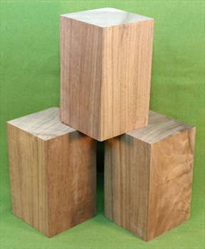 "Blank #735 - Black Walnut Solid Turning Blanks ~ 3 Each ~ 3"" x 3"" x 4 1/2+"" ~ $22.99"