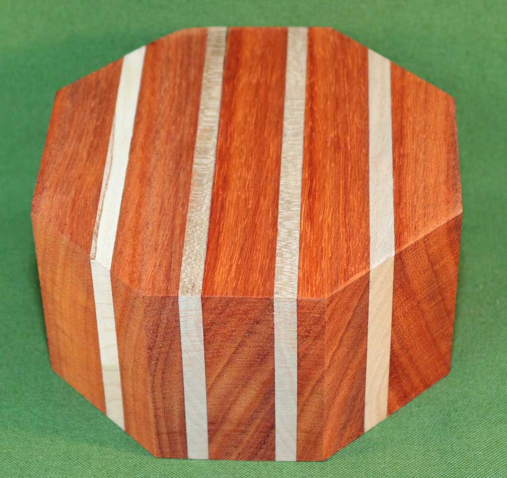 Bowl #440 - Padauk & Cherry Segmented Bowl Blank ~ 5 1/2