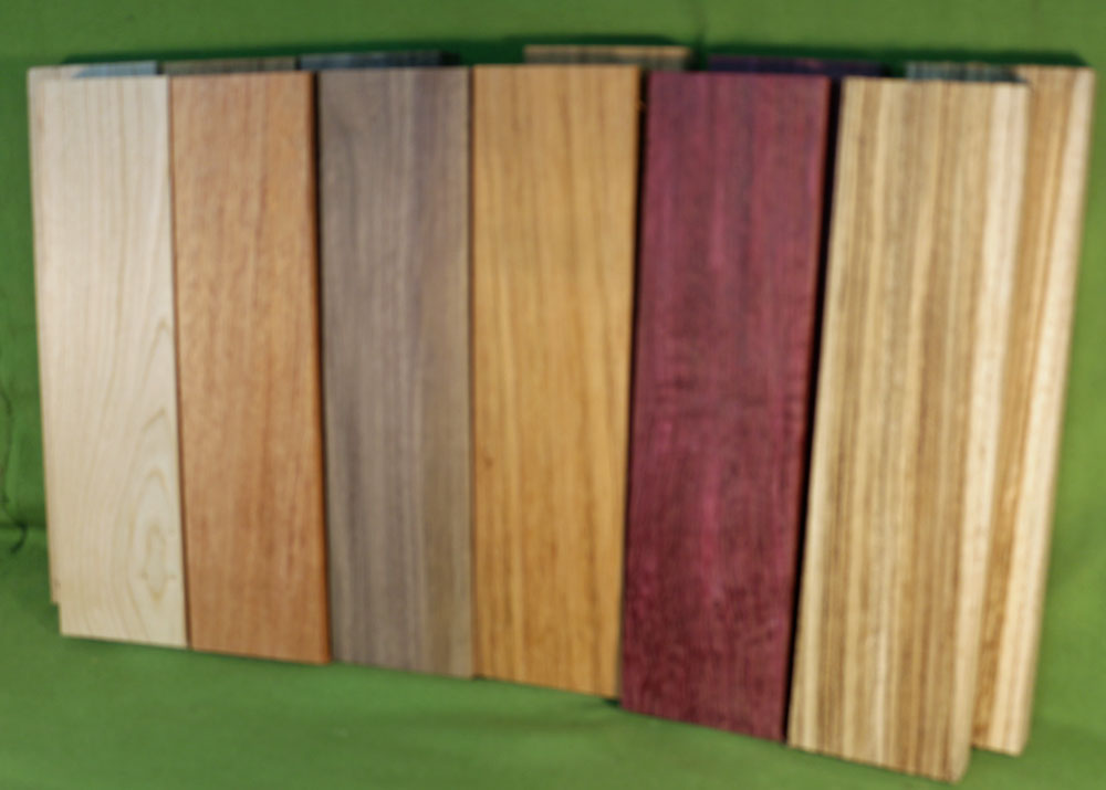 Exotic Wood Craft Pack 12 Boards 3 X 7 8
